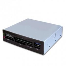 """Lecteur de carte 3.5"""" interne Noir 1port USB 3.0+"""