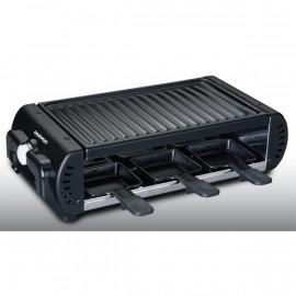Raclette Grill 900W 6 Personnes thermostat réglab