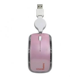 Mini Souris optique ROSE cable rectractile en USB