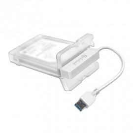 Boitier Externe 2.5 USB 3.0 BLANC CONNECTLAND pour