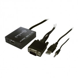 Adaptateur VGA M VERS HDMI femelle Supporte l'audi