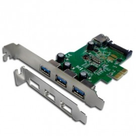 Carte PCI EXPRESS 3+1 Ports USB3 + 1 port RENESAS