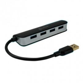 Hub USB 3.0 4 Ports CONNECTLAND couleur NOIR+ Alim