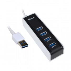 Hub USB 3.0 4 Ports HEDEN Cable 40 cm Réf : HUBUS