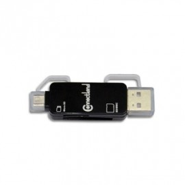 Lecteur Multicarte Externe USB2.0 OTG NOIR CONNECT